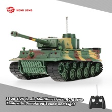 HENG LONG 3828 1/26 Scale German Tiger Panzer 27MHz RC Battle Tank with Simulated Sound and Light 320 Degree Turret Rotating