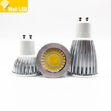 Super Bright GU 10 Bulbs Light Dimmable Led Warm/White 85-265V 6W 9W 12W GU10 COB LED lamp light GU 10 led Spotlight(China)