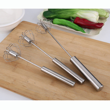 Creative Home Stainless Steel Wire Manual Whisk Rotary Egg Beater Eggbeater Hand Mixer Kitchen Gadgets Cooking Tools