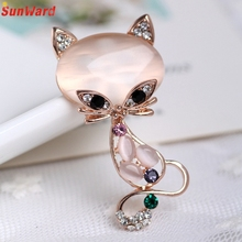 Women Flower Cat Rhinestone Scarf Buckle Brooch Pins for Silk Scarves Clip Fashion Jewelry Delicate
