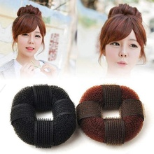 1 pcs Fashion Women Magic Blonde Donut Hair Ring Bun Former Shaper Hair Styler Maker Tool accesorios cabello(China)