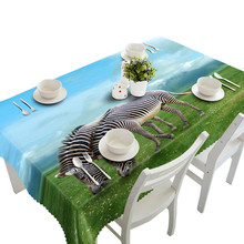Vivid Household Dining Table Cloth Multi Functional Party Picnic Outsidedoor Cloth Mat Table Cloth Cartoon Pictures Print