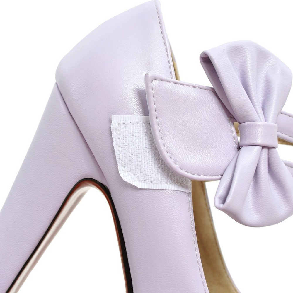 MORAZORA Fashion sweet high heels shoes 12cm shallow women pumps wedding shoes big size 34-47 platform shoes bowtie 20