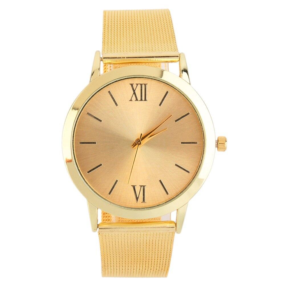 Unisex Golden Adjustable Net Band Wrist Watch Quartz Casual Business New Women Watches men Relogio Feminino Hot!<br><br>Aliexpress
