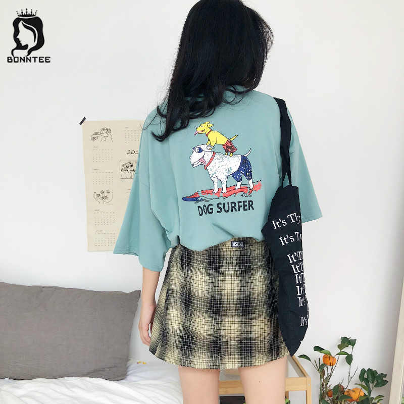 New Fashion Summer Women Loose T-shirt Womens Cartoon Printed Korean Style  Female T- ff5ffc6e7c49