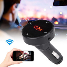 New High Quality Car-styling Wireless Car Kit MP3 Player Radio Bluetooth FM Transmitter SD USB Charger Remote(China)