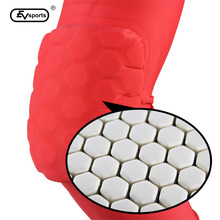 New Sport Safety Knee Pads Lengthen Basketball Elbow Knee Pads Sporting Goods  red/black/white Fast Shipping