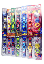 Mini Super Heroes Ninja Mini Blocks Original Boxes Watches Mirage Ninja Rotary People Aberdeen Electronic Watches Bags Children'