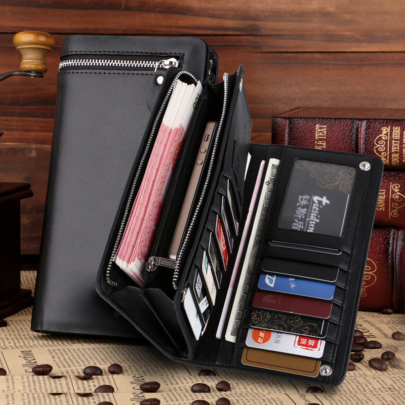 Fanny 2017 New Style Men Wallets Casual Business Genuine Leather Short Solid Zipper Wallets  Men purses with card holder B007<br><br>Aliexpress