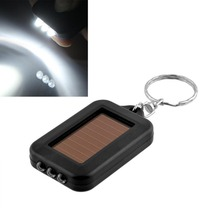Mini Solar Power 3LED Light Keychain Keyring Torch Flash Flashlight