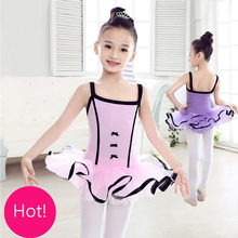 Pink/Purple Kids Sling Dancewear Tull Ballet Dance Dress For Girls Ballerina Tutu Costumes Children Ballet Gymnastics Leotard(China)