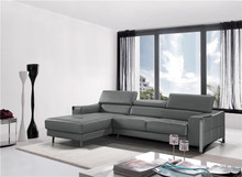 l shape sofa with modern leather sectional sofa and couches for living room(China)