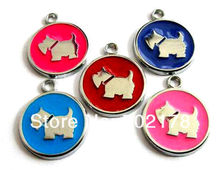 wholesales 50pcs Dog Tag with dog hang Pendant Charms approximately 24x20mm DIY charms stock fit pet collar key chain wristband