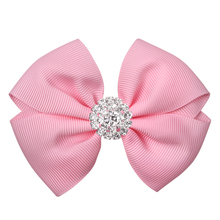 1PC Retail 3.5inch Big Diamond Hair Clip For Girls Hair Barrettes For Children Kids Korean Hairclips Hair Accessories For Women(China)
