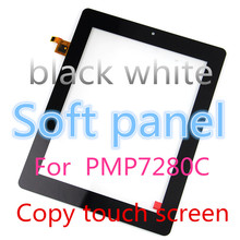 Black white for Prestigio PMP7280C tablet pc FPC.0800-0238-C capacitive touch screen panel digitizer glass sensor replacement
