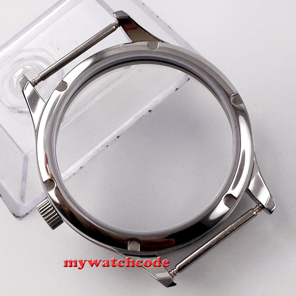 44mm parnis watch sterile CASE fit eta 6498 6497 hand winding eat movement C29<br>