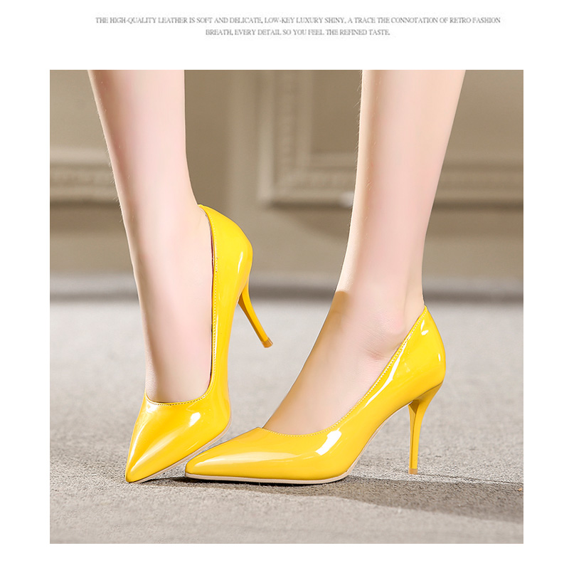 WETKISS New 2018 Sexy High Heels Women Pumps Pointed Toe Thin Heels Shallow Slip On Footwear Spring Fashion Office Ladies Shoes