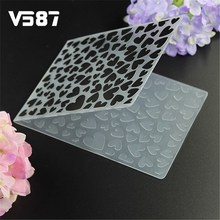 Cake Stencil Heart Biscuit Plastic Embossing Folder DIY Bakery Tool Scrapbooking Album Card Cutting Dies Template Craft