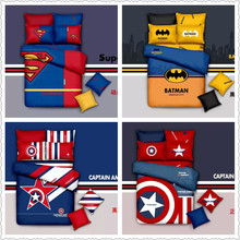 super man modern cartoon design for boys home decor cotton fabric twin full queen king size bed linens comforter duvet covers