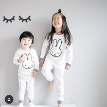 TZ464 Cotton rabbit pijamas children cartoon bear Me minions long sleeves boys pajamas Children pajamas set Baby Clothing 2017(China)