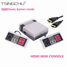 Retro Family HDMI Mini TV Video Game Console HD Classic Handheld Game Players Built-in 500 Games HD Output Dual Gamepad Controls
