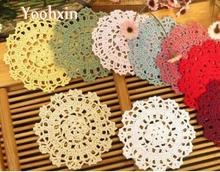 HOT cotton placemat cup coaster pot mug holder kitchen accessory Handmade table place mat cloth lace round Crochet doily tea pad
