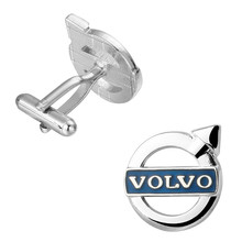 High quality brand logo blue volvo Cufflinks fashion wedding Cufflinks Gift for a friend. 3 pair pack sale(China)