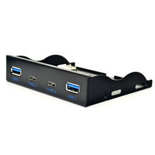 2 USB3.1 TYPE-C floppy drive bit front panel 19-pin 20PIN express TYPE-C + USB3.0 to USB3.1 TYPE-C(China)