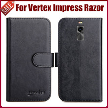 Hot Sale! Vertex Impress Razor Case New Arrival 6 Colors High Quality Flip Leather Protective Cover Case Phone Bag(China)