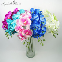 Butterfly orchid artificial flower simulation flores home wedding decoration table bedroom accessory High quality 6pcs/lot decor(China)