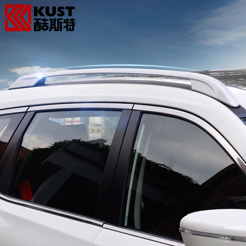 KUST Roof Luggage Rack Bar Rail For X-trail 2014 Top Roof Side Rails Luggage Rack Rail For Nissan For Rogue X-Trail 2016 2017(China (Mainland))