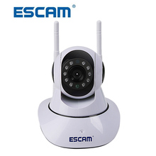 ESCAM G02 Dual Antenna 720P Pan/Tilt WiFi IP IR Camera Support ONVIF Max Up to 128GB Video Monitor Home Security IP Dome Camera