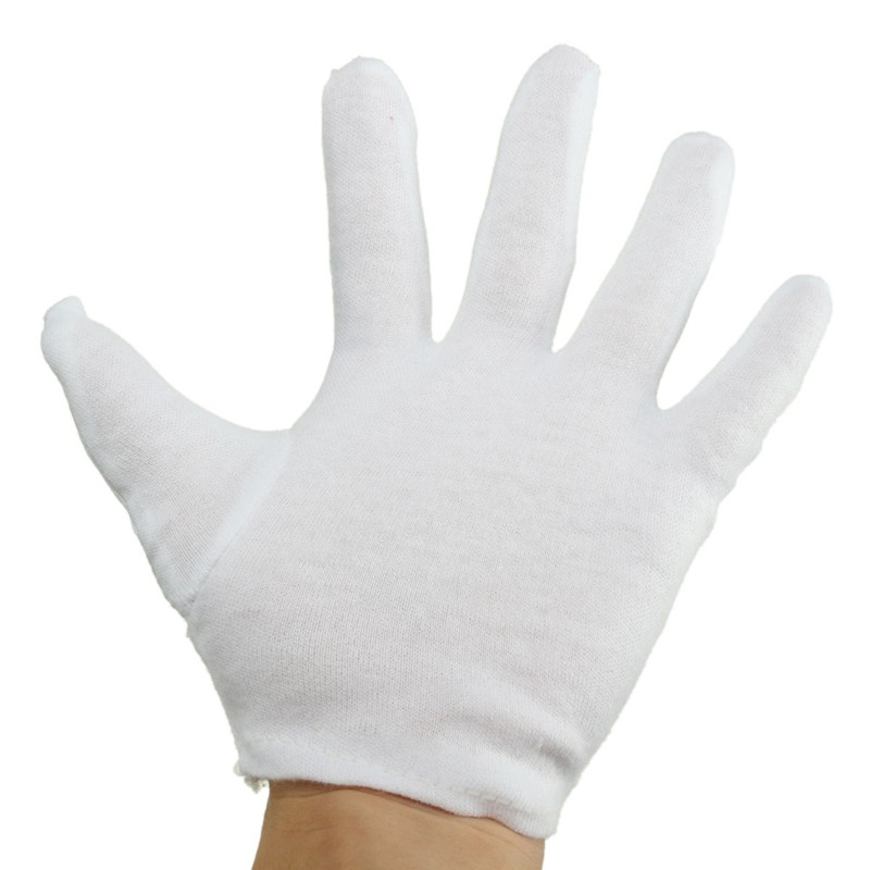 High Quality 100% Cotton White Gloves Health Music Canvas Beauty Working Labor Liner Hand Safely Security Protector<br><br>Aliexpress