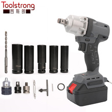 Toolstrong Brushless 18vLi-ion battery Electric Car Impact Wrench scaffolding Electric avvitatore ad impulsi power tool TSL-IW04(China)