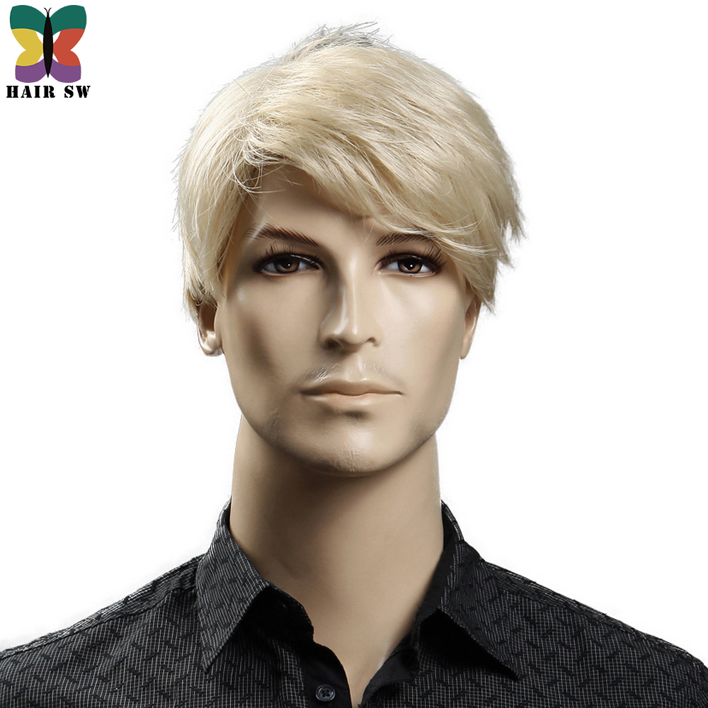 Yiyaobess-6inch-Heat-Resistant-Synthetic-Short-Blonde-Wig-Natural-Hair-Men-Straight-hairStyles-(5)