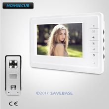 "HOMSECUR 7"" Hands-free Video Door Phone Intercom System with Intra-monitor Audio Intercom"