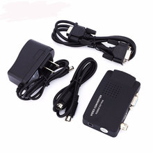 Portable BNC to VGA Video Converter Composite S-video Input to PC VGA Out Adapter Digital Switch Box 1080P For PC MAC