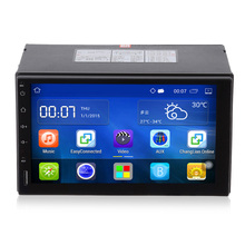 Android 5.1 Car Radio 2 Din Car DVD Player 7 inch 1024x600 Touch Screen Bluetooth WIFI GPS Navigation Steering Wheel Control(China)