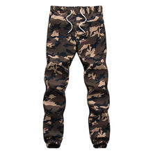 100% Cotton Mens Jogger Autumn Pencil Harem Pants 2017 Men Camouflage Military Pants Loose Comfortable Cargo Trousers Camo Jogge(China)