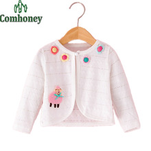 Bolero for Girls Floral Wedding Cape Cloak Coat  Kids Long Sleeve White Pink Baby Cardigan Outwear Princess Girls Bolero Outwear