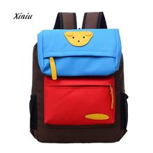 2018 Fashion Boys Backpacks Girl Students Lovely Bear Canvas Backpack School Bags Casual Bookbags Kindergarten Kids Backpacks(China)