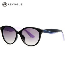 AEVOGUE Newest Oval Frame Vintage Brand Design Sunglasses women Hot Selling Sun Glasses 3 Colors Temple UV400 AE0202