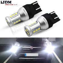 Buy iJDM 7443 LED CANBUS Error 7443 T20 W21W LED Bulb 2009-2016 Fiat 500 Daytime Running Lights 6000K White Red Yellow 12V for $16.80 in AliExpress store