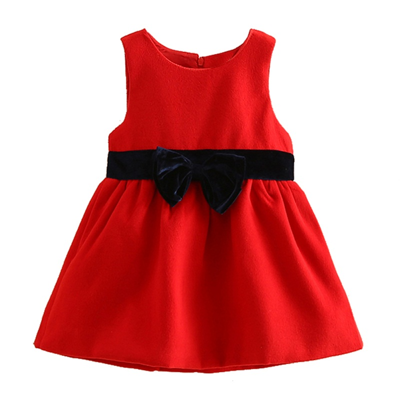 LittleSpring Princess Dress Girls Clothes 2017 Sleeveless A-line Dresses for Girls with Bowknot Lolita Style Christmas Costumes<br><br>Aliexpress