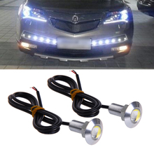 Car Styling 1 Pair DC 12V 23mm Eagle Eye LED Daytime Running DRL Light Car Auto Lamp White