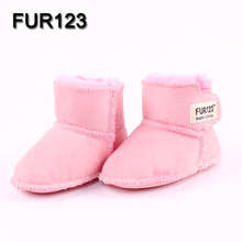 FUR123 Winter Baby Boots Infant First Walker Soft Sole GirlsBaby Booties Boy Baby Boots