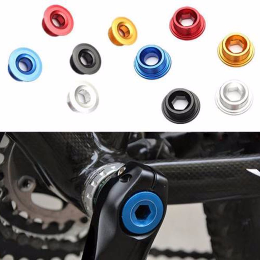 Anodized Arm Fixing Bolt Bike Bicycle Crank Chainset Screw Axis For Shimano JLAG
