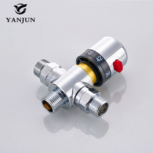 YANJUN Better Quanlity DN15(G1/2) Brass Thermostatic Mixing Valve automatic temperature Control Valve(China)