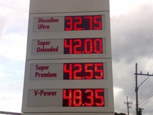 Led sign petrol gas station screen oil pirce temperature time humdity led sign