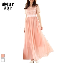 S-XXXL Diamond Pearl Beads Lace Up Maxi Long Formal Dress Big Size Embroidery Short Sleeve Pleated Ball Gown For Bridal 9843